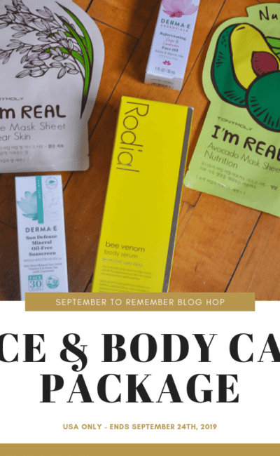 Face and Body Care Package Giveaway