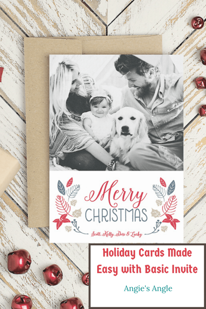 Holiday Cards Made Easy with Basic Invite - Pin