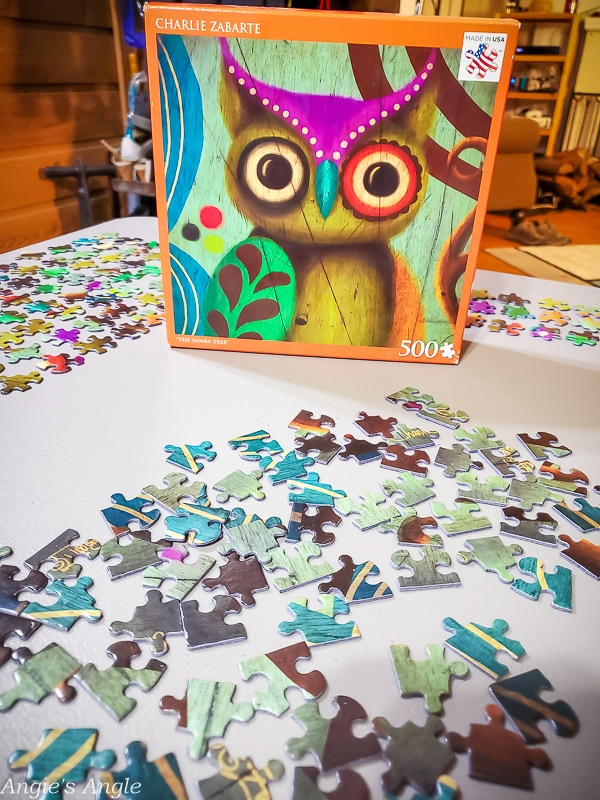 2020 Catch the Moment 366 Week 2 - Day 10 - Starting the Owl Puzzle