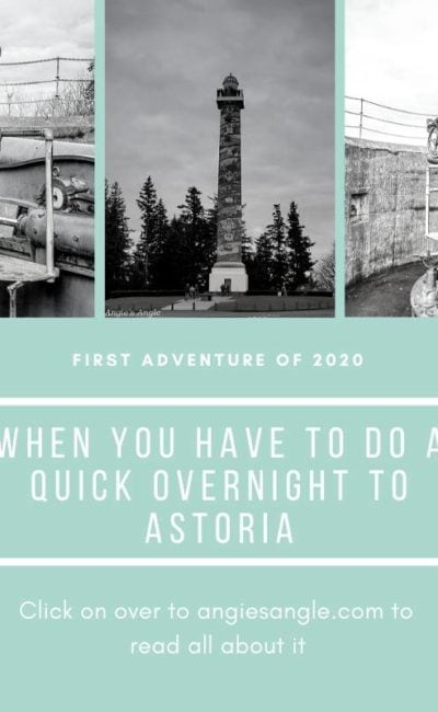 When You Have to do a Quick Overnight to Astoria
