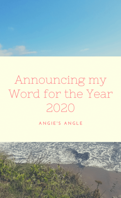 Announcing my Word for the Year 2020