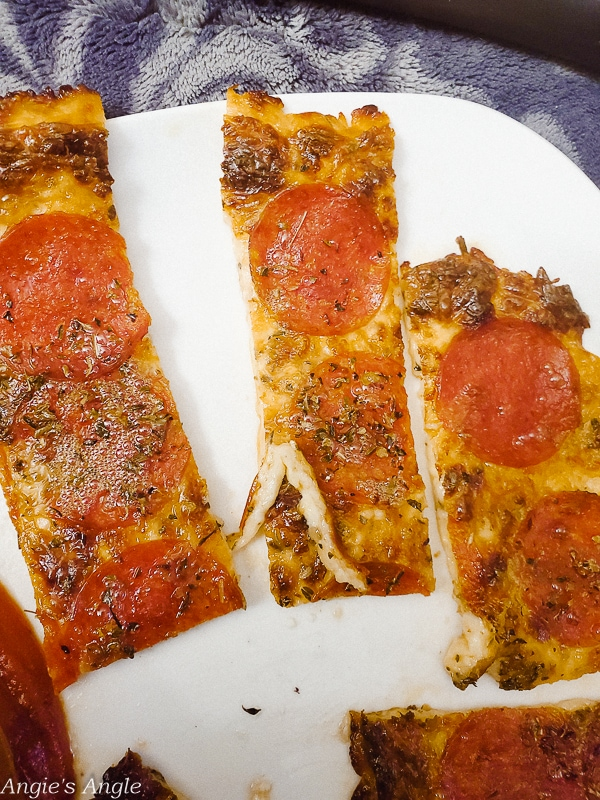 2020 Catch the Moment 366 Week 6 - Day 38 -Low Carb Pizza Sticks