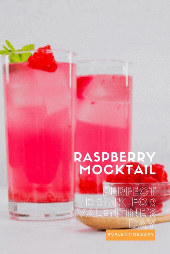 Cozy Valentines Night In - Raspberry Mocktail - Pin