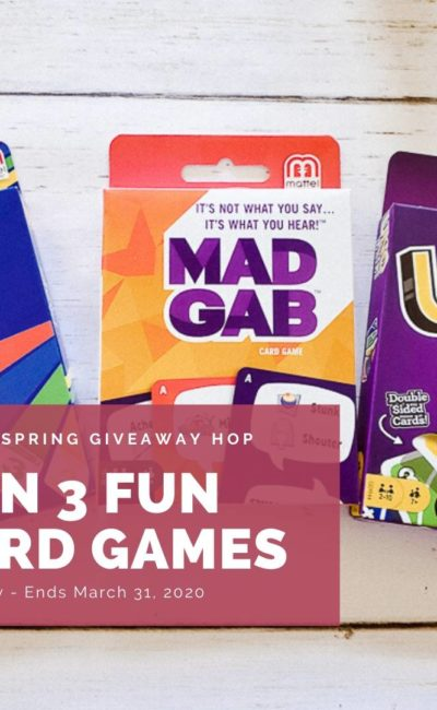 Win 3 Fun Card Games in Hello Spring Giveaway Hop