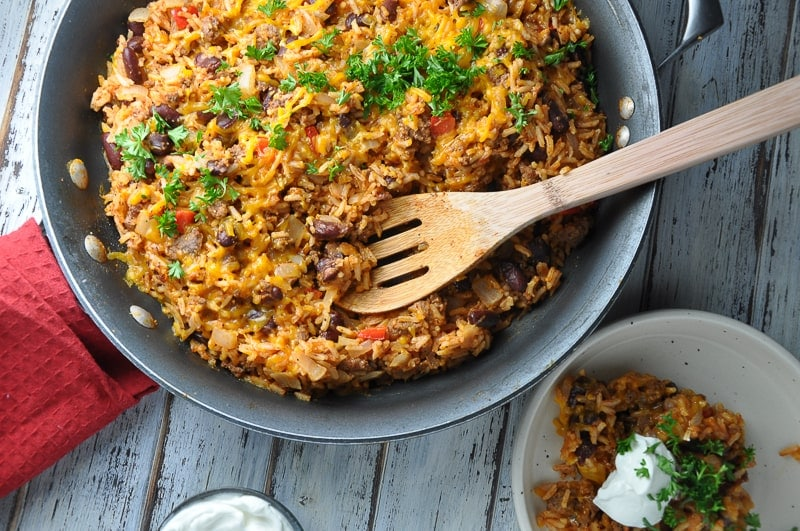 Cheesy Ground Beef Skillet