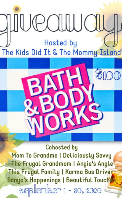 September 2020 Bath & Body Works Giveaway