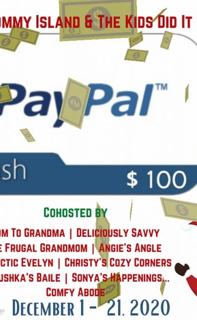 Time for the December $100 PayPal Giveaway