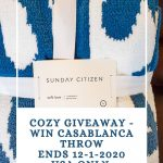 Win the Sunday Citizen Casablanca Throw - Pin