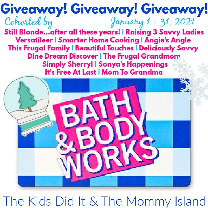 January 100 Bath and Body Works Giveaway